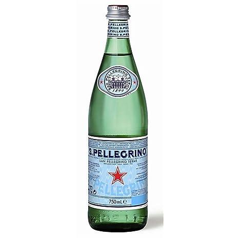 S. Pellegrino Natural Sparkling Agua Mineral de cristal de 750 ml (Pack de 12