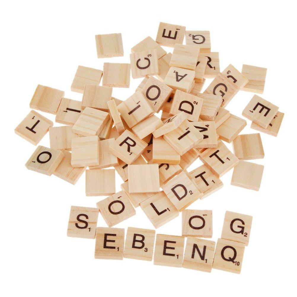 お買い得モデル Scrabbleタイル B06XF7NT7XPixnor木製文字タイル100ピースScrabble木製タイル教育ギフト子DIY Scrabbleタイル B06XF7NT7X, 甲奴郡:fea13563 --- yelica.com