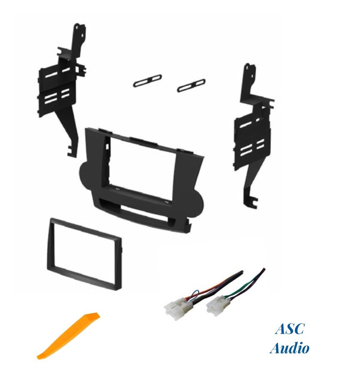 No JBL ASC Audio Car Stereo Dash Install Kit and Wire Harness for Installing an Aftermarket Double Din Radio for 2008 2009 2010 2011 Toyota Highlander Factory Premium Amp Other 4350460032