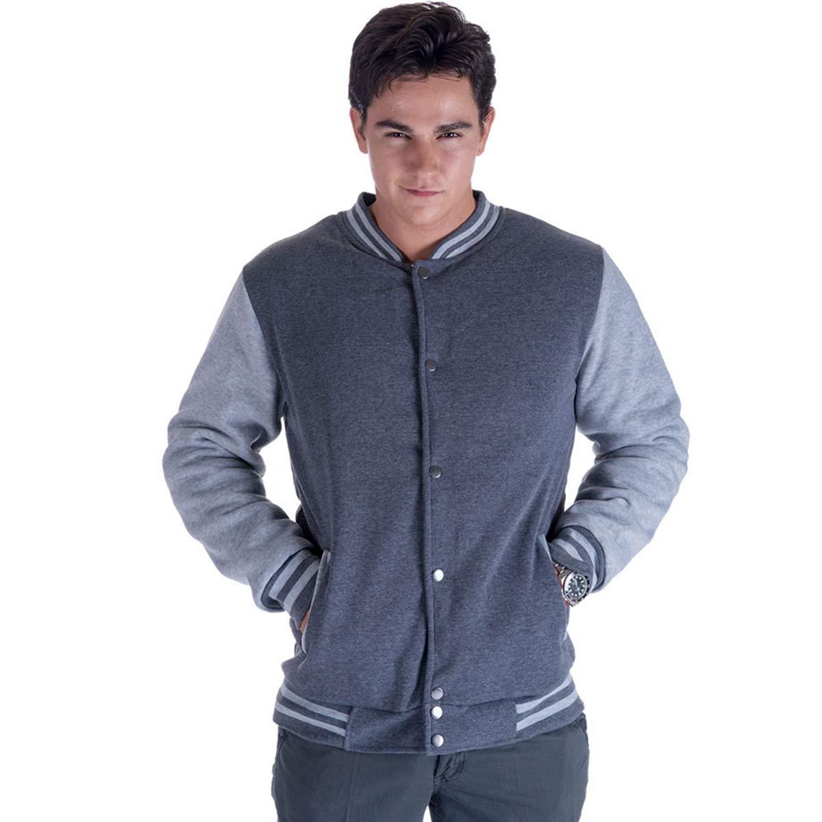 Urimoser Mens Varsity Baseball Jackets Sherpa Lined Lightweight Bomber Cotton Jackets