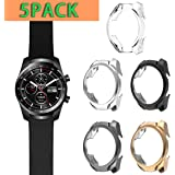Haojavo 5 PACK Compatible with Ticwatch Pro Case, Slim Fit Ultra Light TPU Protective Case Bumper Shell Cover for…