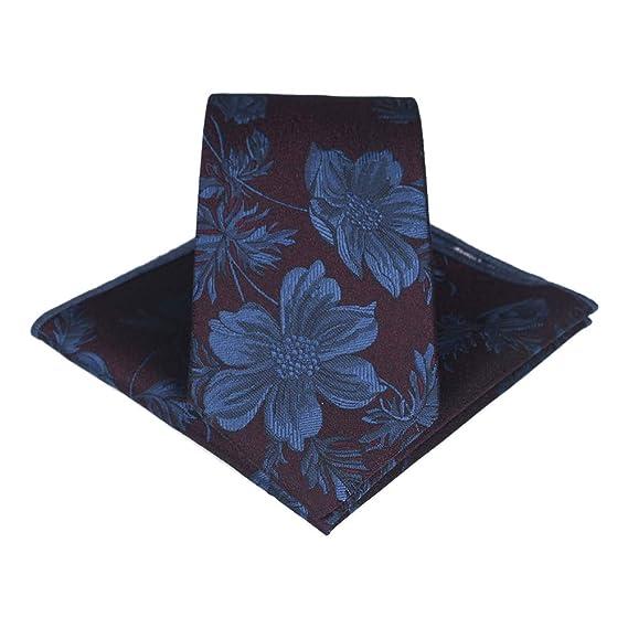 JUNGEN Corbata de Hombre Corbata Estampada de Flores Corbata con ...