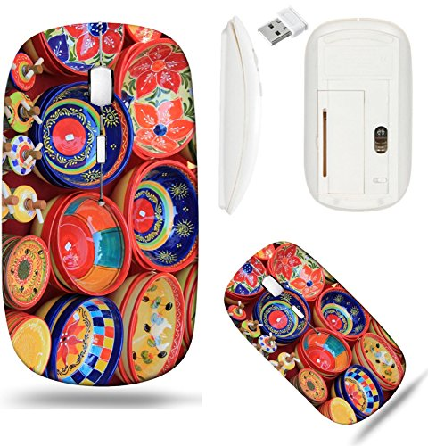 Liili Wireless Mouse White Base Travel 2.4G Wireless Mice with USB Receiver, Click with 1000 DPI for notebook, pc, laptop, computer, mac book Colorful pottery from the Provence France Photo 21772877