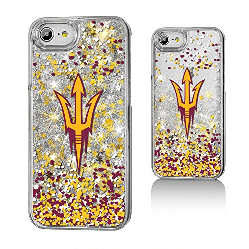 Keyscaper NCAA Arizona State Sun Devils Unisex Apple iPhone Glitter Caseglitter Case, Clear, iPhone 8/7/ 6 by Keyscaper
