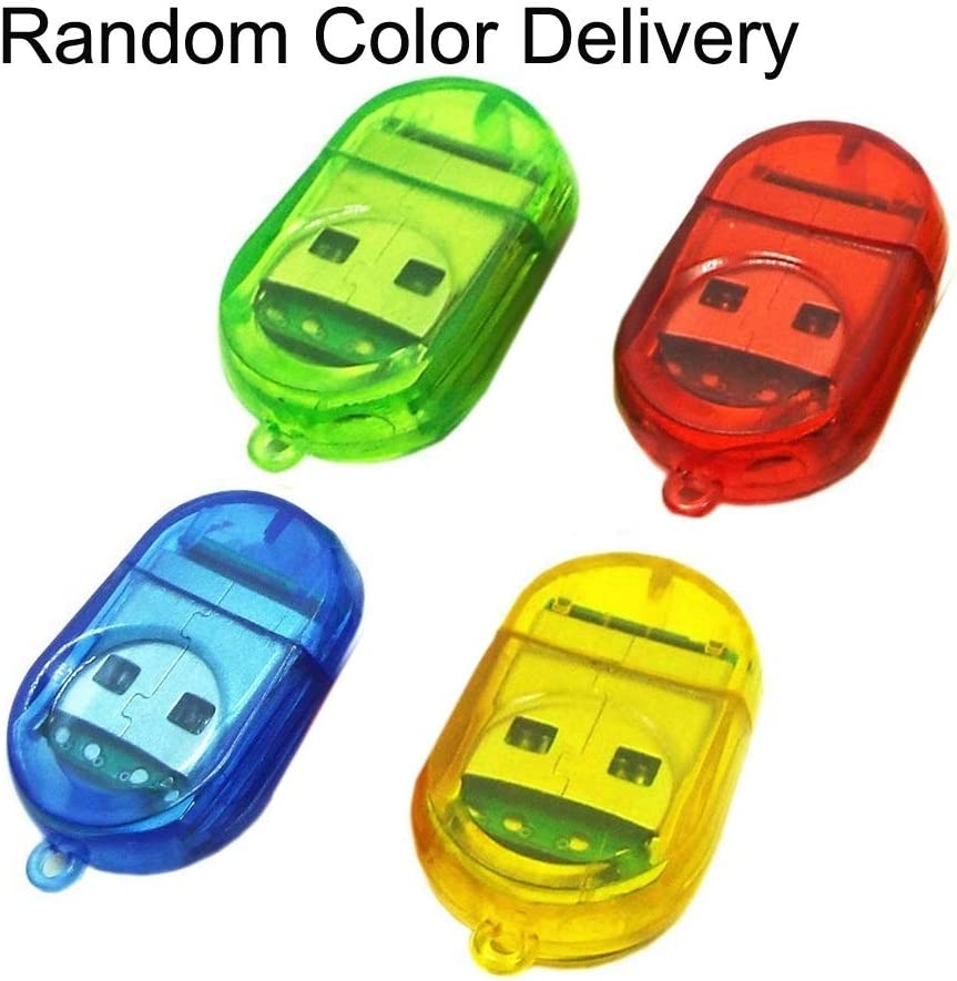 30 PCS Firefly Shape USB 2.0 TF Card Reader Random Color Delivery
