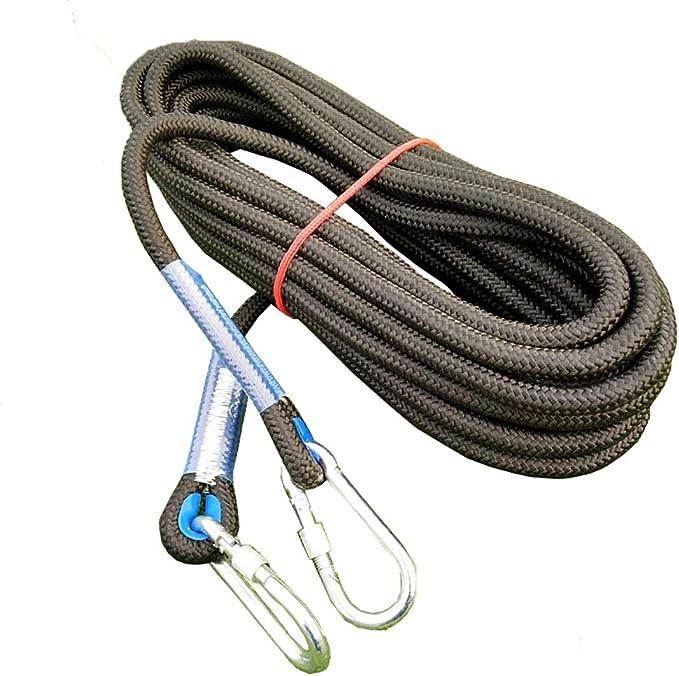 Alta resistencia de la cuerda cuerda de seguridad 14mm Negro ...