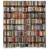 "Custom Neat Bookshelf,Library Waterproof Polyester Fabric Bathroom Shower Curtain 66"" x 72"""