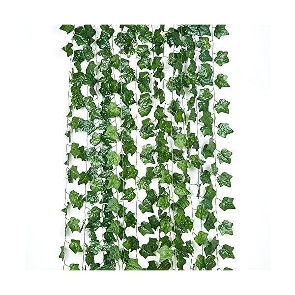 90FT-12-Pack-Artificial-Ivy-Hanging-Plants-Greenery-Faux-Vines-Fake-Green-Leaves-Garland-Wedding-Wall-Dcor-Home-Kitchen-Garden-Office