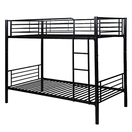 Amazon Com Bunk Bed Twin Over Twin Julyfox Modern Metal Steel Bed