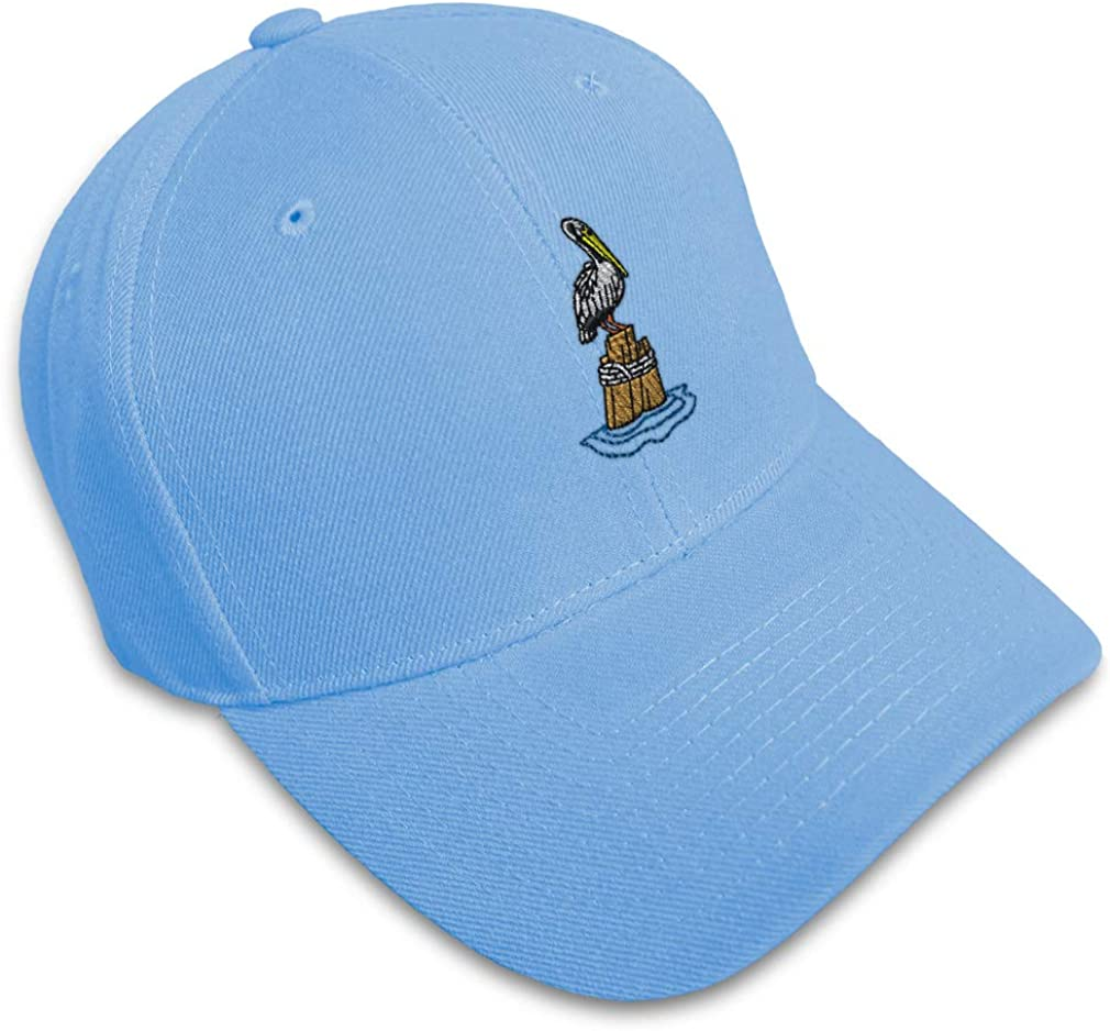 Custom Baseball Cap Pelican B Embroidery Dad Hats for Men /& Women Strap Closure