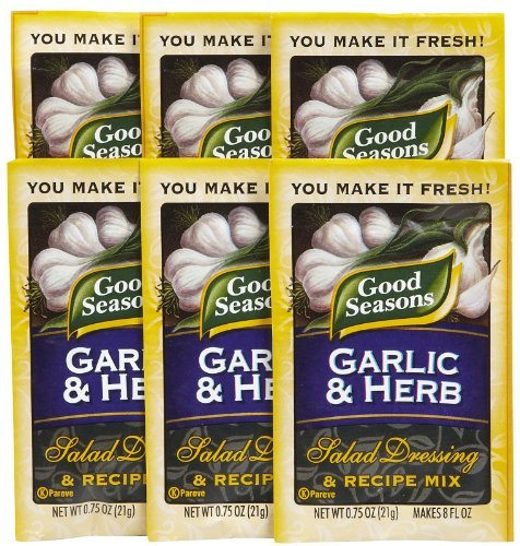 Good Seasons Salad Dressing & Recipe Mix, Garlic & Herb, 0.75 oz, 6 pk by Good Seasons