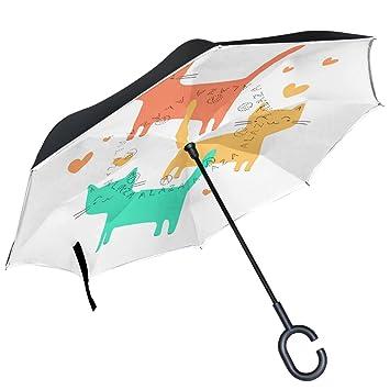 ALAZA - Paraguas inverso de doble capa para gato