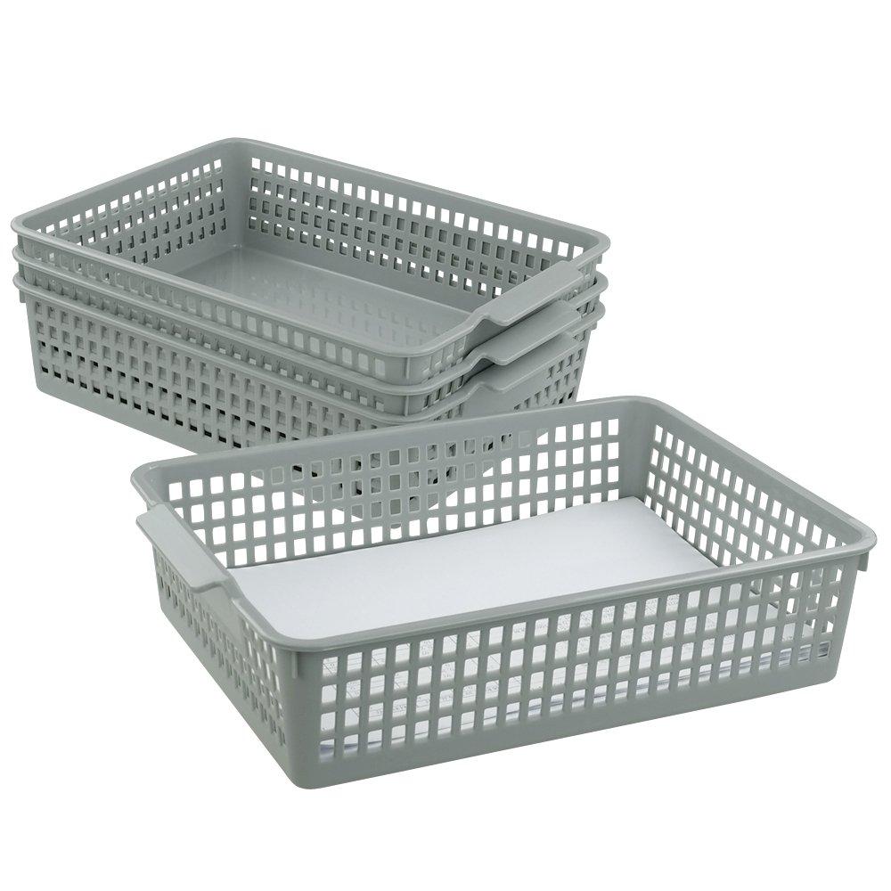 Doryh Plastic Basket Organizing for Files, Letter, 4 Packs