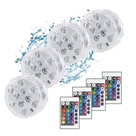 Led Underwater Lights 10led Rgb Led Underwater Light Pond Submersible Ip67 Waterproof Swimming Pool Light Battery Operated For Wedding Party At Any Cost