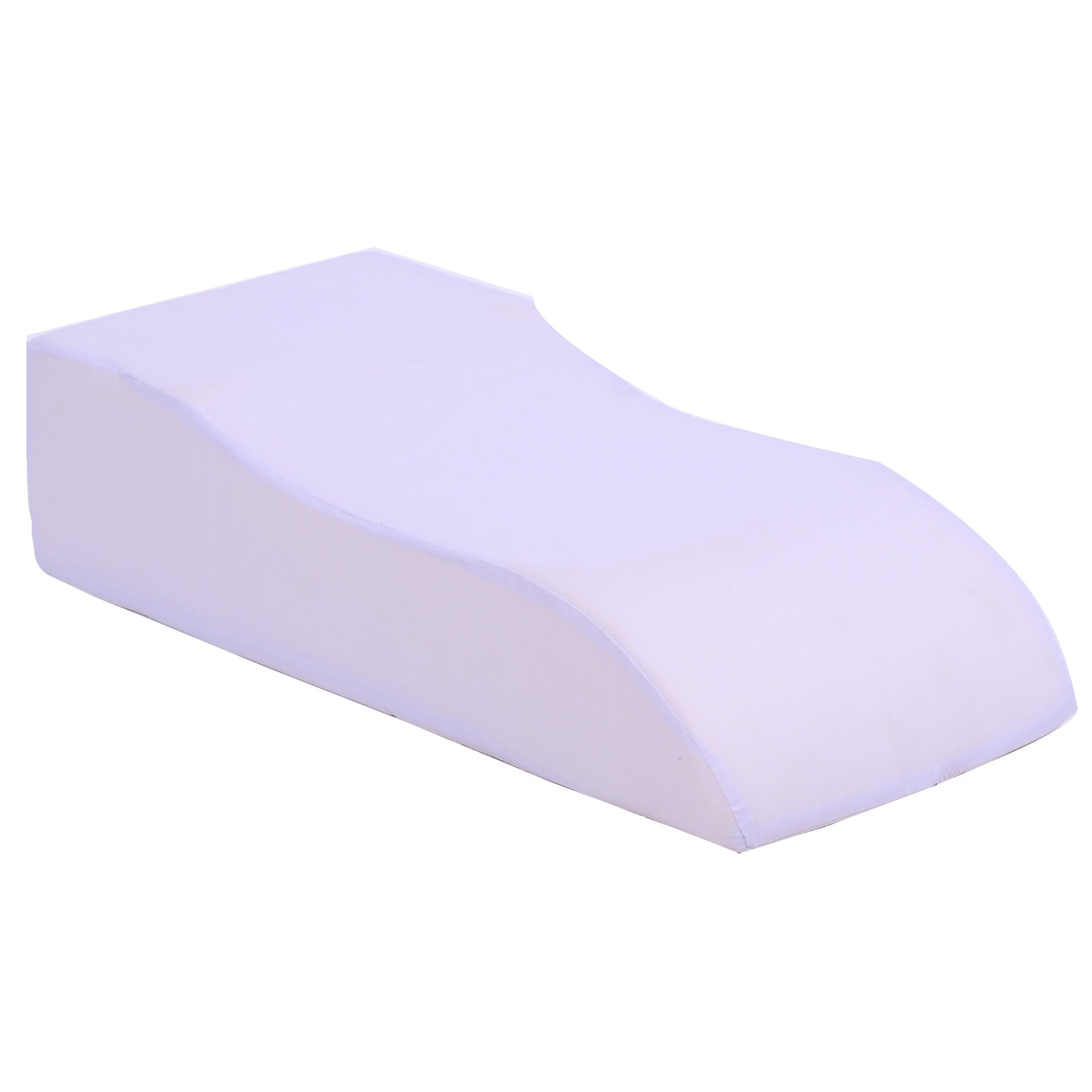 DeFancy Medical Foam Leg Elevating Cushion Leg Rest Pillow with Cotton Cover (White)