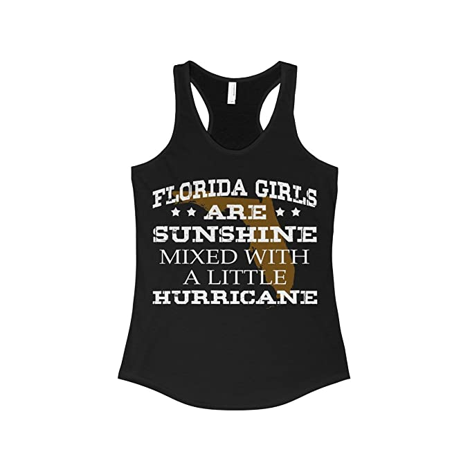 a4400df292b4b Doryti Florida Girls Are Sunshine Mixed a Little Hurricane Women's ...