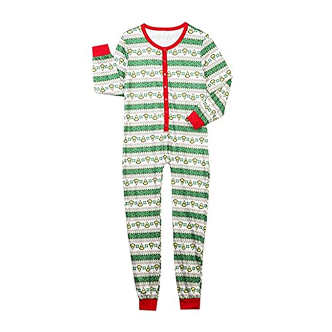 Christmas Family Matching Pajamas Set Kids Adult Geometric Xmas PJs Romper Jumpsuit  Sleepwear (Men 8e239ded1