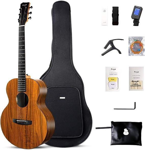Enya EM-X1 - Guitarras acústica HPL de 36 pulgadas para principiantes, con bolsa acolchada, correa, afinador, cuerda, capo, púas, paño de pulido: Amazon.es: Instrumentos musicales