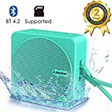 Avantree Mini Bluetooth Shower Speaker 4.2, Portable Wireless Speaker for Kids, Supports Micro SD Card, IPX6 Waterproof for Outdoor Sport Travel Hiking and Beach, 10 Hours Music Time – SP950