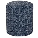 Majestic Home Goods Navy South West Indoor/Outdoor Bean Bag Ottoman Pouf 16'' L x 16'' W x 17'' H