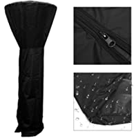 Womdee Patio Heater Cover,Outdoor Weatherproof Flame Full Length Cover Patio Furniture Cover for Stand Up Round Dome Heaters,89 Inch Tall,Black