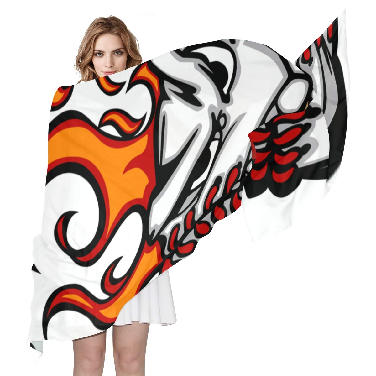Baseball Player Hitting The Ball Unique Fashion Scarf For Women Lightweight Fashion Fall Winter Print Scarves Shawl Wraps Gifts For Early Spring