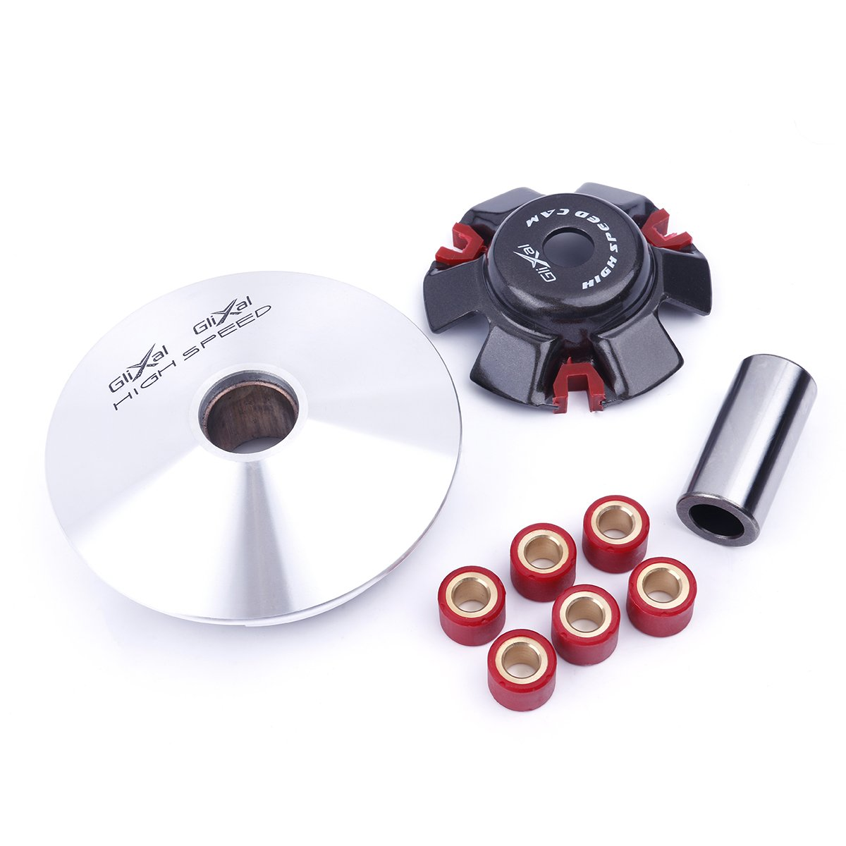 Glixal ATKS-042 GY6 125cc 150cc High Performance Racing Variator Kit with 13g Roller Weights for Chinese 4-Stroke 152QMI 157QMJ Scooter Moped ATV Engine Front Clutch