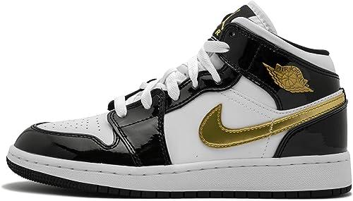 Venta > jordan negro con blanco y dorado > en stock