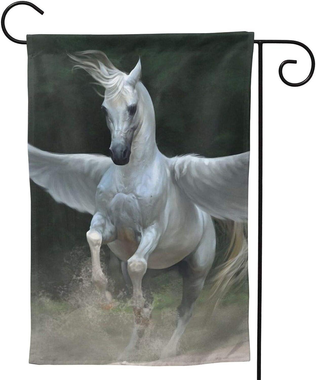 Horse Garden Flag Pegasus Horse House Flag Vertical Double Sided Yard Outdoor Decor Party 12.5 X 18 Inch