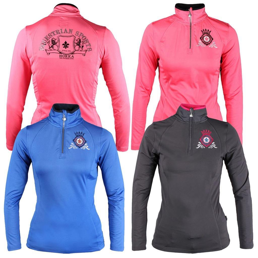 Horka Equestrian Ladies Pully Diamond Turtle Neck Zipper Crystal Women Shirt