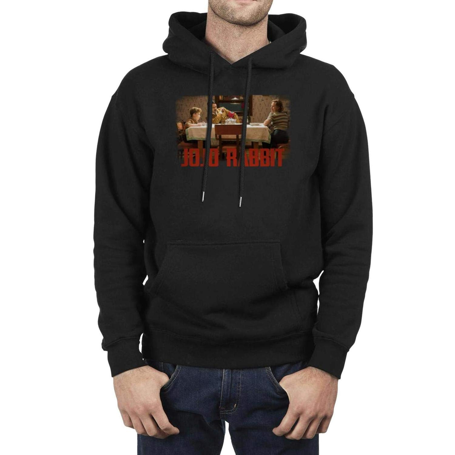 Mens Pullover Hoodie Sweatshirt Long Sleeve Fleece JoJo-Rabbit