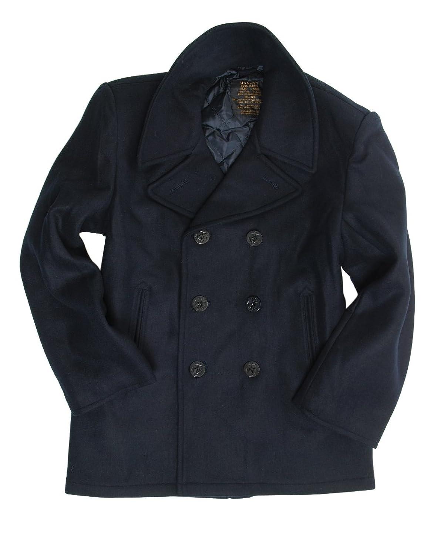 Mil-Tec US Navy Pea Coat Black at Amazon Men's Clothing store: