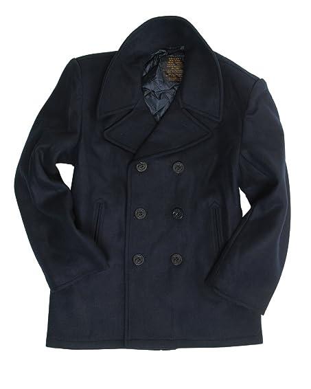 Dark Blue US Navy Pea Coat at Amazon Men's Clothing store: