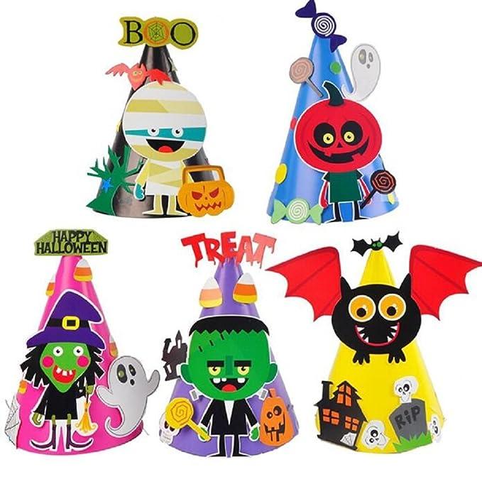 Amazon.com: EBTOYS Halloween Party Hats DIY Cumpleaños ...