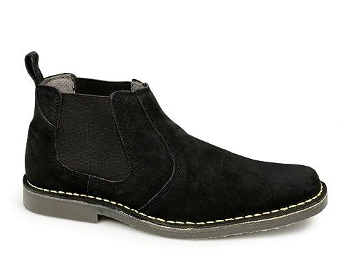 Roamer - Botines chelsea de ante hombre, color negro, talla Mens Size 6