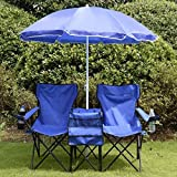 Portable Folding Picnic Double Chair W/Umbrella Table Cooler - Best Reviews Guide