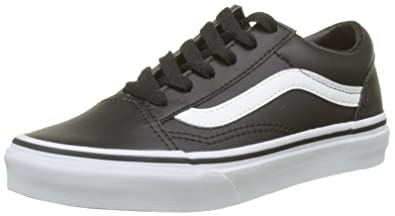e37ff4a8312eae Image Unavailable. Image not available for. Color  Vans Kids Old Skool (Classic  Tumble) Blk True White ...