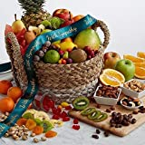Deluxe Snack Basket - Same Day Dried Fruit Basket Delivery - Dried Fruit Gifts - Best Dried Fruit Tray- Mixed Dried Fruit - Dried Fruit and Nut Gift Baskets