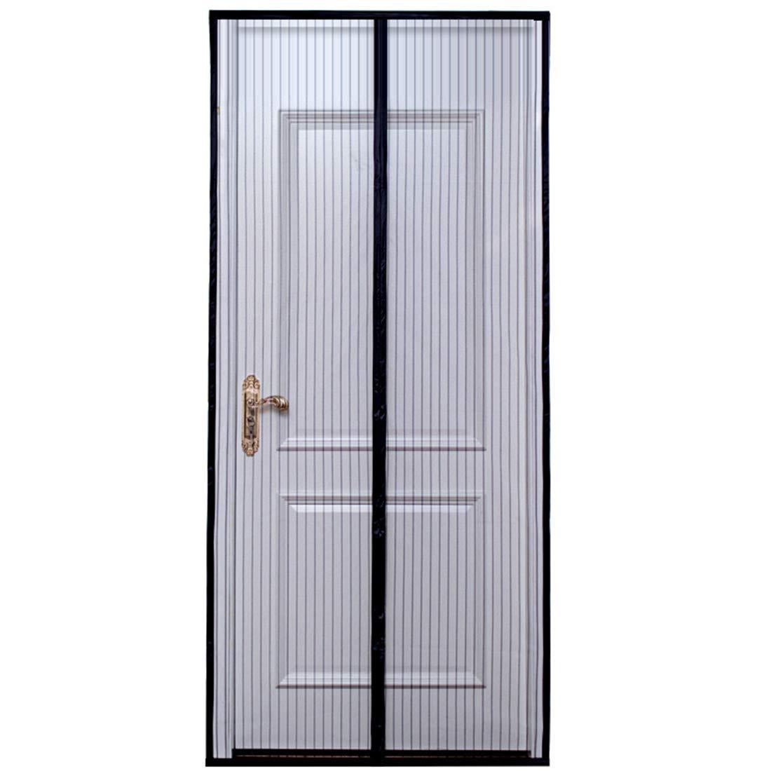 Magnetic Screen Door Mesh Curtain, Fits Doors Up to 34 x 82 Max, Full Frame Velcro, Best Used as Patio Mesh Door, Pet Screen Door