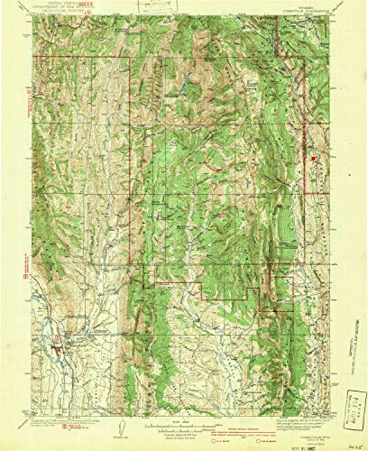 YellowMaps Cokeville WY topo map, 1:125000 Scale, 30 X 30 Minute, Historical, 1942, 19.7 x 16.1 in - Paper ()