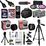 """47th Street Photo Ultimate Accessory Kit for the Canon Rebel T2i, T3i, T4i, T5i, 650D, 700D, Kiss X5 Kiss X4, KissX6i, Kiss X7i, EOS 550D, 600D DSLR Digital Camera - Kit Includes: 64GB High-Speed SDXC Card + Card Reader + 2 Extended Life Batteries + Travel Charger + 58MM 0.43x HD2 Wide Angle Macro Fisheye Lens + 58MM 2.2x HD2 AF Telephoto Lens + 58MM 3 Piece Pro Filter Kit (UV, CPL, FLD Lens) + HDMI Cable + Padded Gadget Bag + Professional 60"""" Tripod + Stabilizing Handgrip & Handgrip Strap +"""