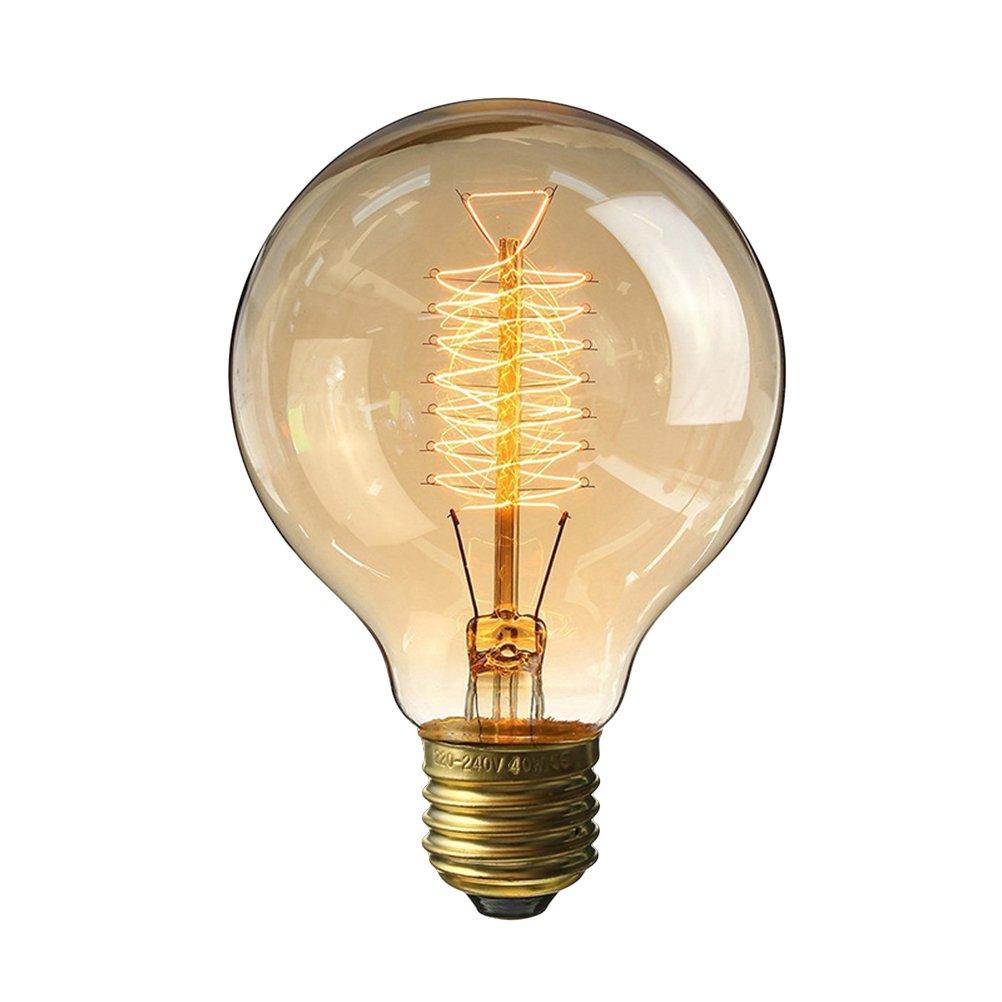 LEDMOMO E27 Edison Bulb 40W 220V G80 Vintage Light Bulbs for Chandeliers Sconces Light Home Light Fixtures [Energy Class A+]