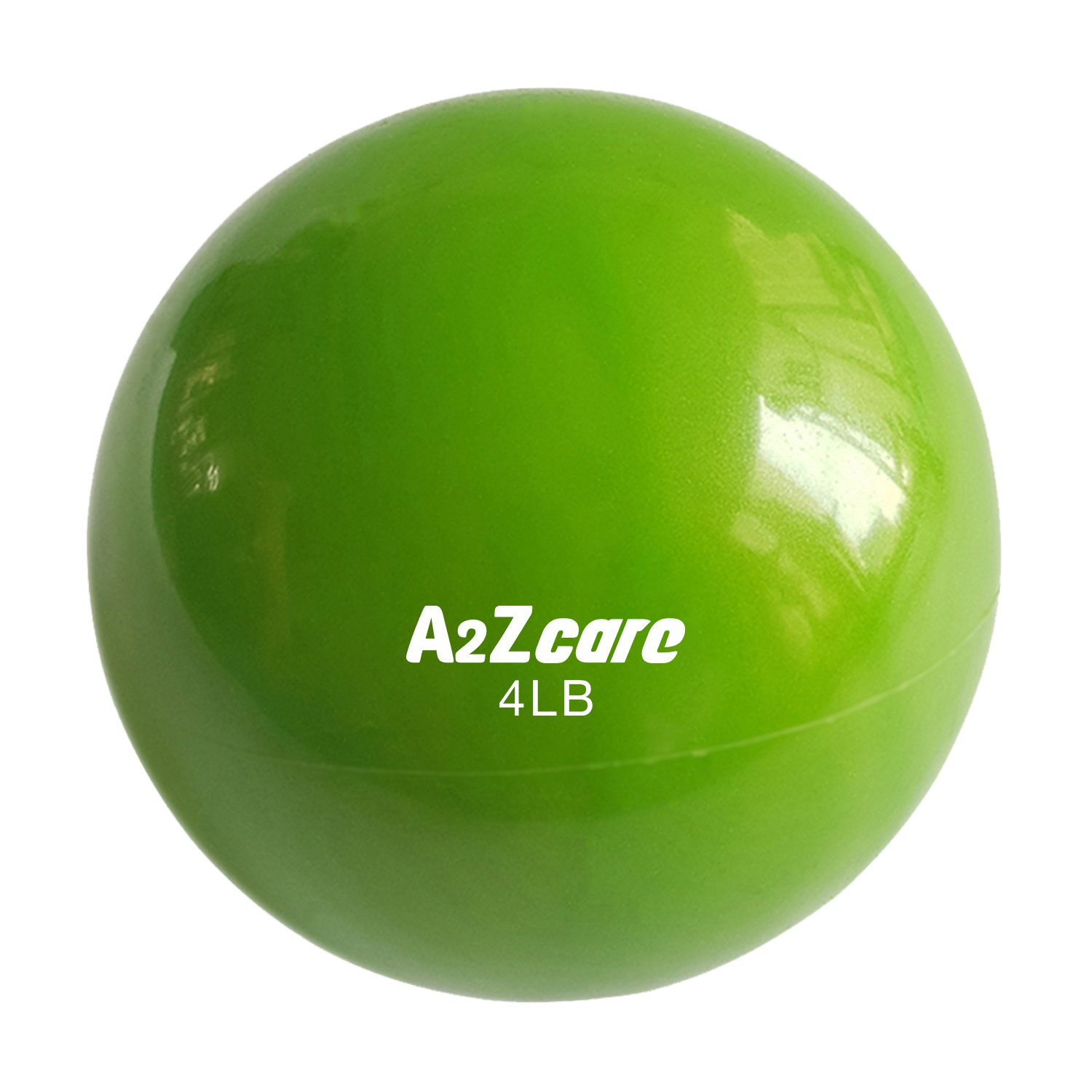 A2ZCARE Toning Ball - Soft Weighted Mini Ball/Medicine Ball (Green (4lbs))
