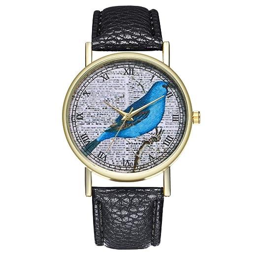 Funique Boy Girl - Reloj de Cuarzo con Mapa del Mundo (Piel sintética), Color Negro: Amazon.es: Relojes