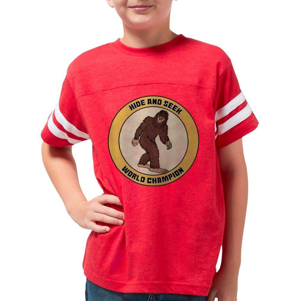 550ff05c Amazon.com: CafePress - Hide And Seek World Champion - Youth Football Shirt:  Clothing
