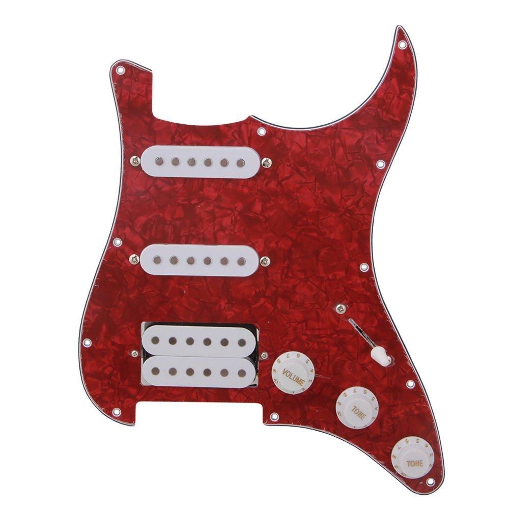 blanco perla yibuy SSH /¨C Golpeador para guitarra sint/¨/¦tica Kit para guitarra el/¨/¦ctrica