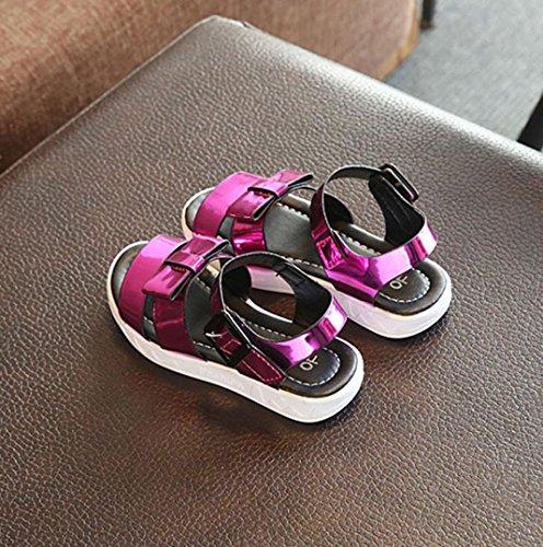 Single Schuhe Pink Kinder Sandalen Kinder Paar Mädchen 1 Sequins Prinzessin Kleinkind Igemy Sommer 7qw10npg8