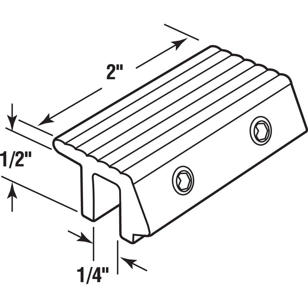 White Finish Prime-Line Products U 9817 Tamper Resistant Sliding Door Lock