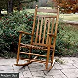 Slat Seat Adult Rocker - Medium Oak