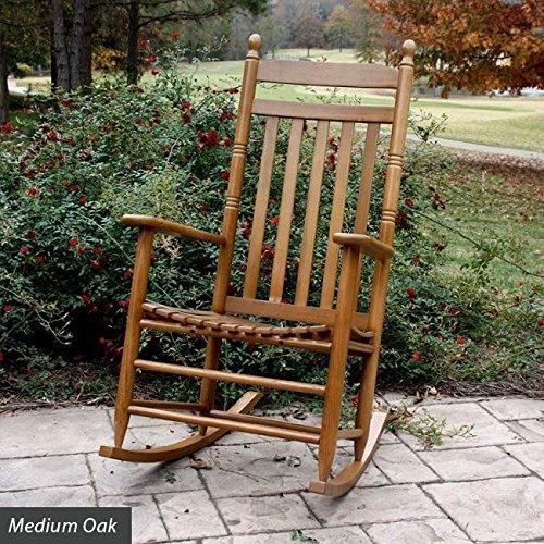 Slat Seat Adult Rocker - Medium Oak (Slat Seat)